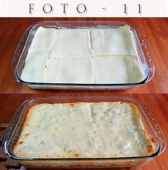 Cobertura da torta de frango - Queijo mussarela